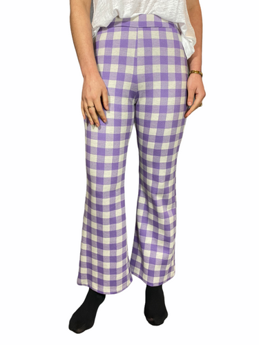 Checked pants Purple