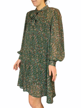 Load image into Gallery viewer, Green Flora Dress