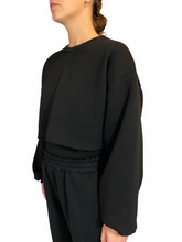 Load image into Gallery viewer, Black  Cropped Sweater