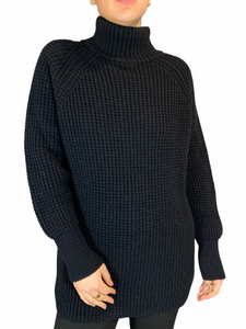 Black Oversized Turtle Neck