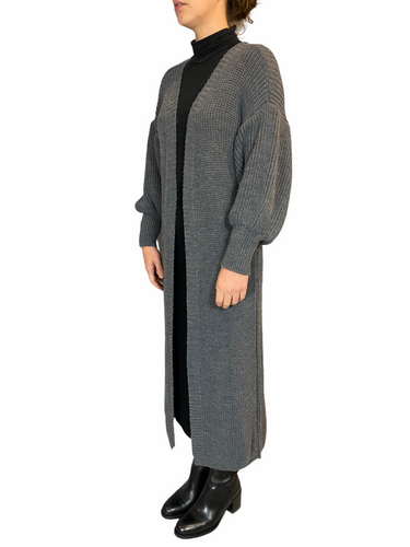Long Mouse Grey Cardigan