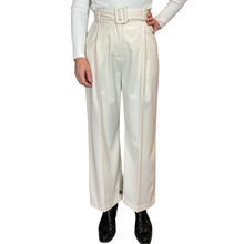 Load image into Gallery viewer, Creamy  Wide Leg Pantalon