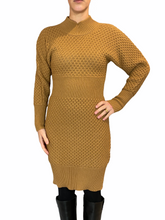 Load image into Gallery viewer, Camel knit Dress