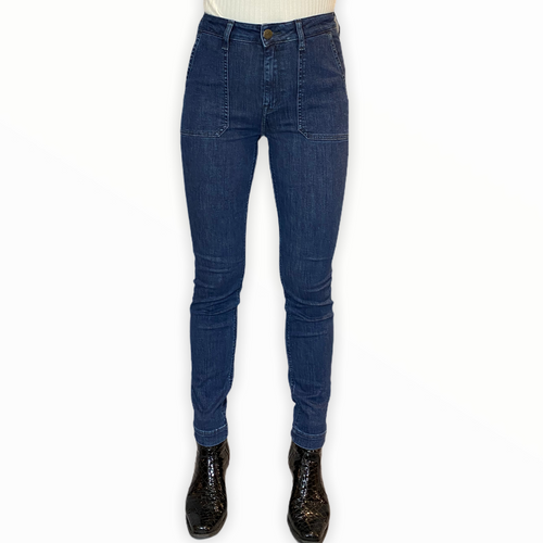 Night Blue Skinny High Waist