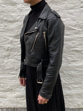 Load image into Gallery viewer, Bowie reworked Leather biker black