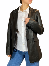 Load image into Gallery viewer, Black Leather Blazer