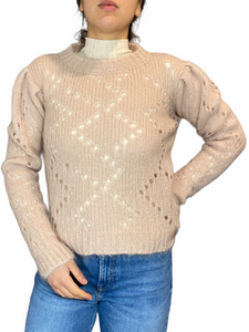 Pink Knitwear with holes