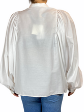 Load image into Gallery viewer, Ballon Sleeve Blouse Bianco