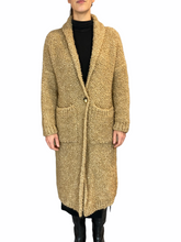 Load image into Gallery viewer, Beige Teddy Cappotto Revers Tasche