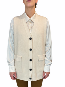 Beige Button Spencer