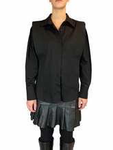 Load image into Gallery viewer, Black Puffed Sleeve Blouse