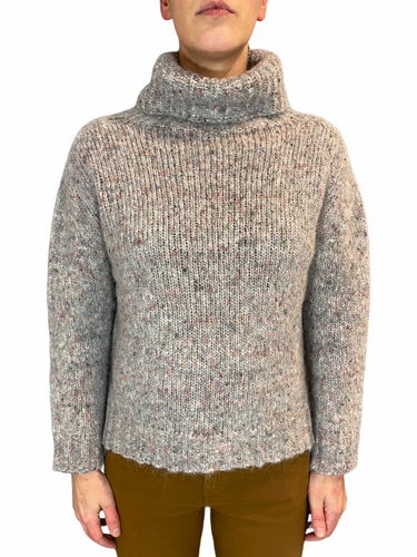 Multi Grey Turtleneck Alpaca blend