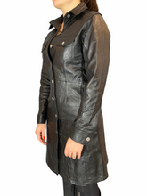 Load image into Gallery viewer, Anais dress re-used leather.