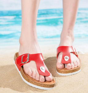 Slippers Flip Flops Summer Beach Cork Shoes Slides Girls Flats Sandals Casual Shoes