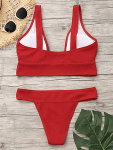 Plunge Neck Low Waist Bikini