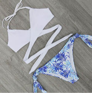 Sexy Criss Cross Bikini Bandage Brazilian Swimsuit