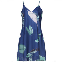 Load image into Gallery viewer, Mini Beach Palm Leaf Print Dresses