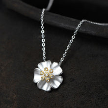 Load image into Gallery viewer, 925 Sterling Silver Flower Necklace Zircon Link Chain Necklaces & Pendants For Women