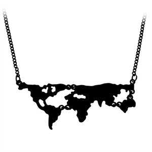 Globe World Map Necklace