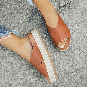 Open Toe Platform Casual Shoes