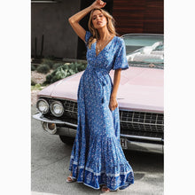 Load image into Gallery viewer, Frieda Boho Maxi Dress