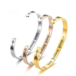 Cuff Bracelets Bangles Motivational- Encouragement Jewelry