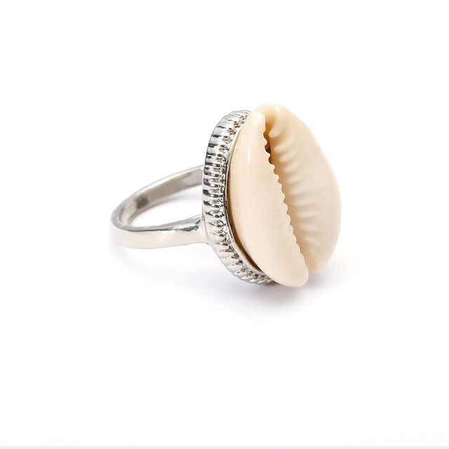 Bohemian Antique Silver Shell Ring Midi Finger Knuckle Rings ,Beach Jewelry  Accessories
