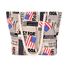 Load image into Gallery viewer, TEXU thailand national elephant pattern Women Canvas bohemian style striped Shoulder Beach Bag Female Casual Tote