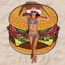 Load image into Gallery viewer, Food Beach Towel Round