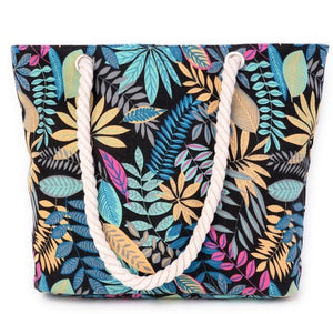 printing leaves shoulder bags