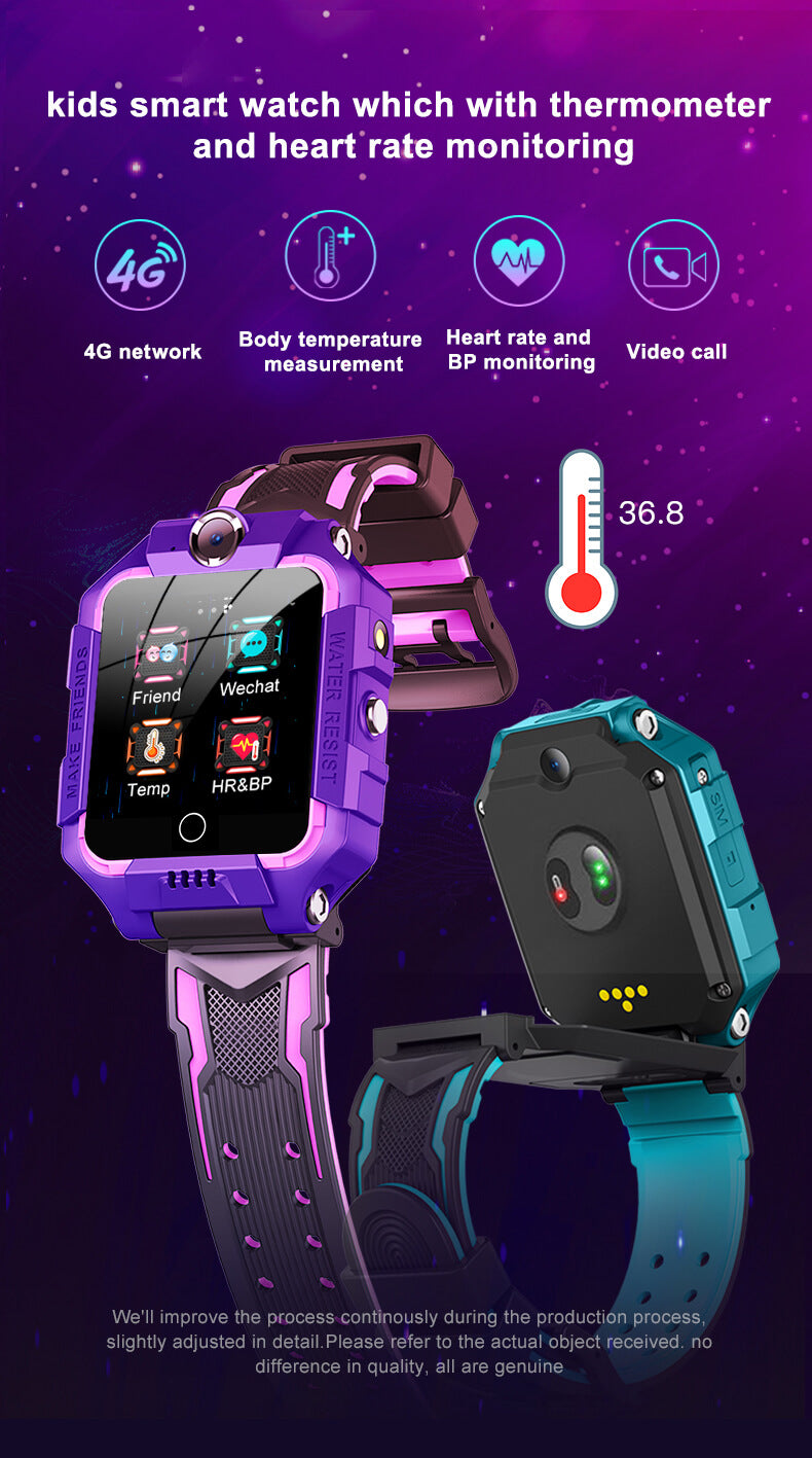 4G Smart GPS Positioning Video Call 360° Rotation Kids Phone Watch With Body Temperature