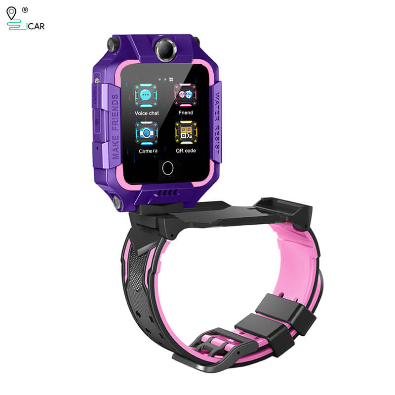 4G Waterproof GPS Positioning Dual Cameras 360° Rotation Video Call Kids Phone Watch