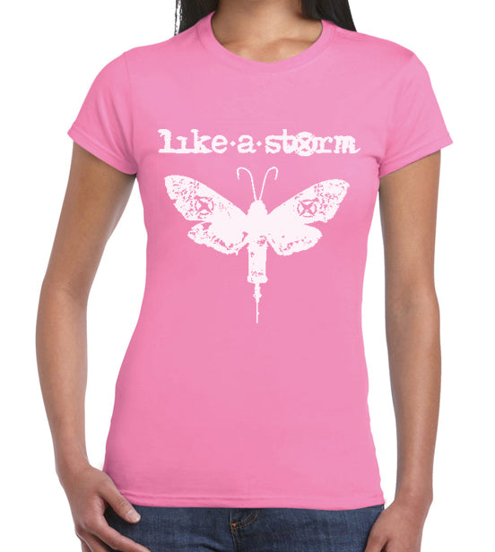 Pink Moth Ladies T - FREE SHIPPING!