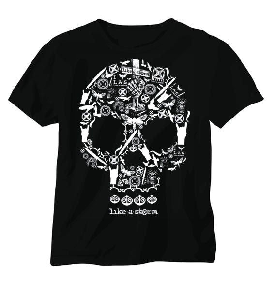 LAS Skull Montage T - FREE SHIPPING!