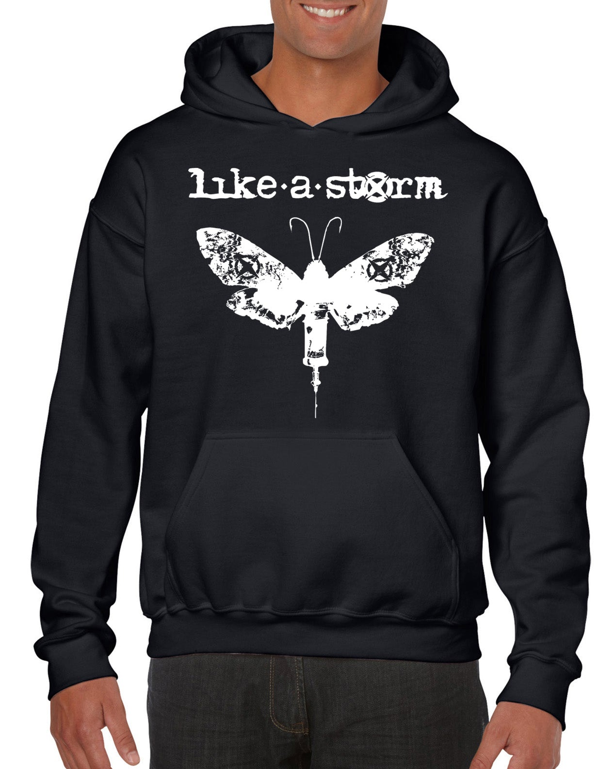 Classic Moth Pullover Hoodie - FREE SHIPPING!