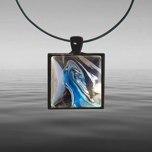 Open image in slideshow, Chris Painted Tongariro Square Necklace