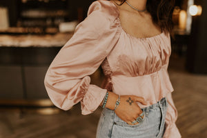 The Leyla Satin Crop Top