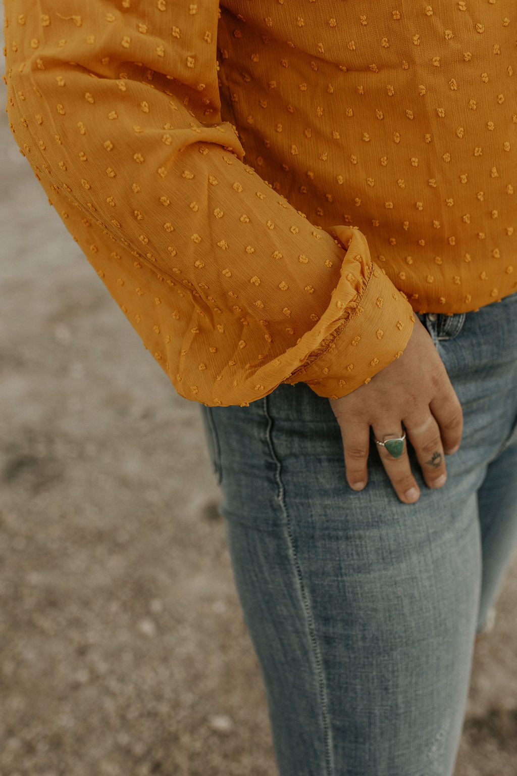The Hoxie Top in Mustard