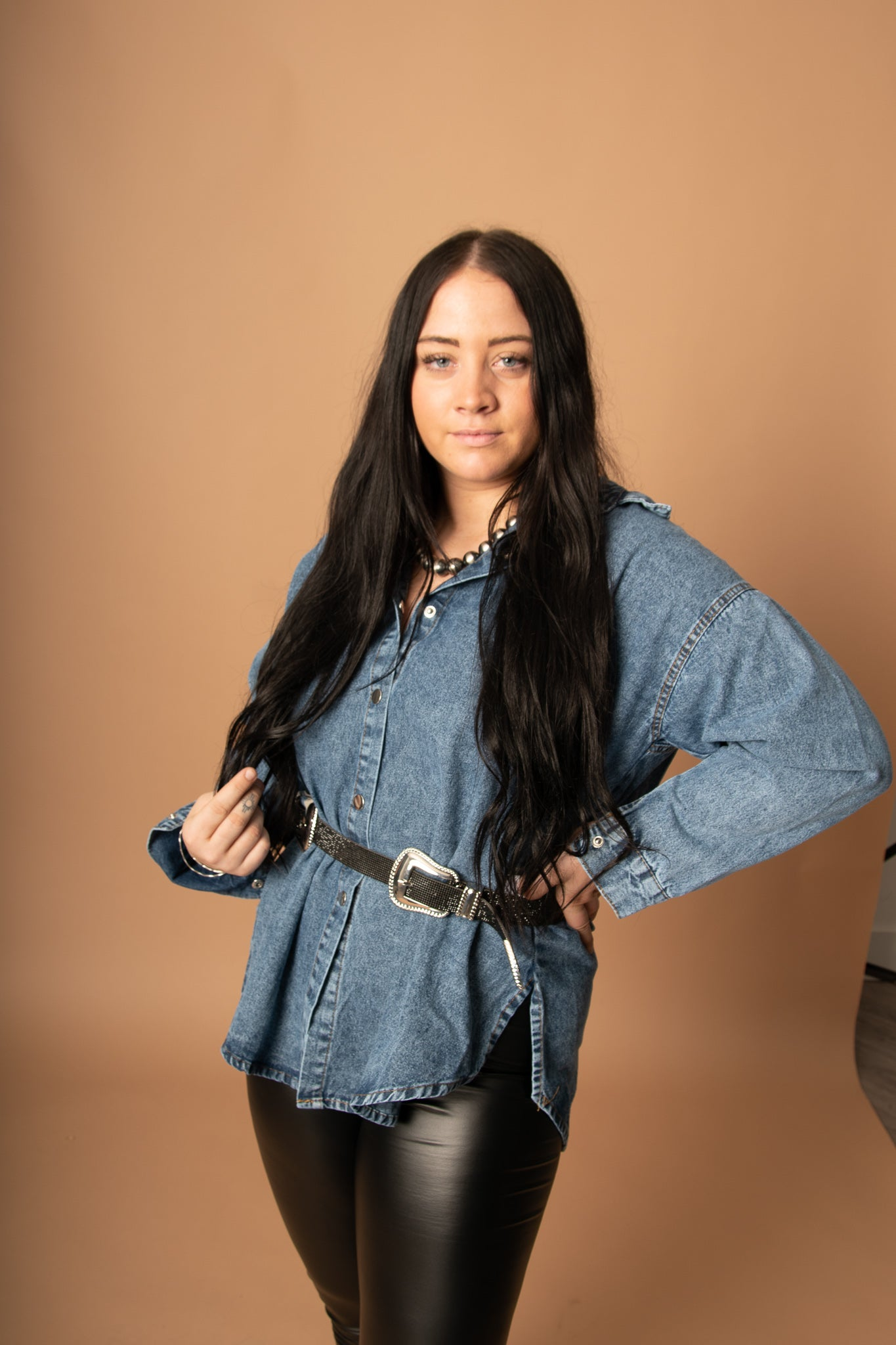 The Dimestore Cowgirl Belt in Black
