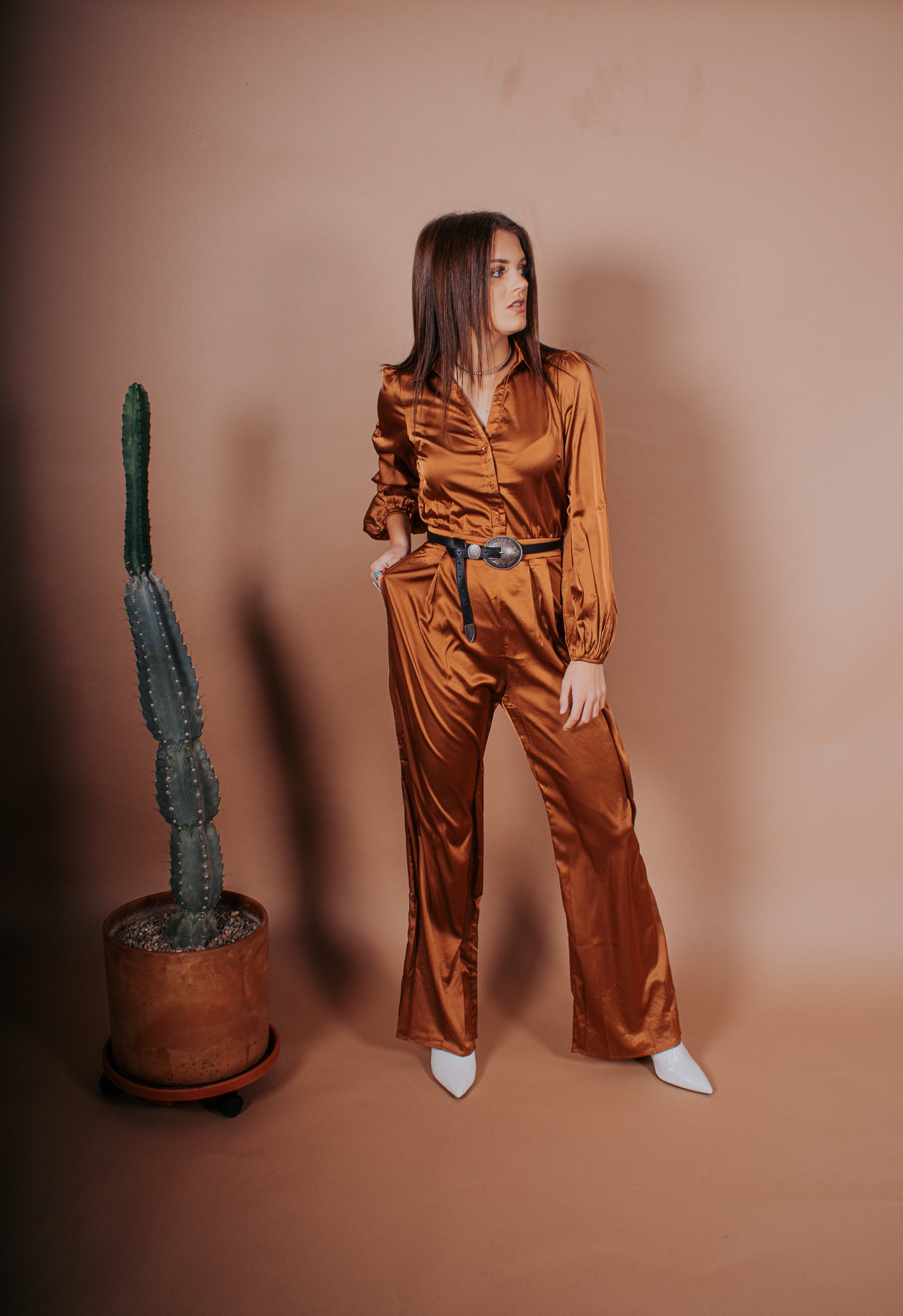 The Vegas Satin Jumpsuit