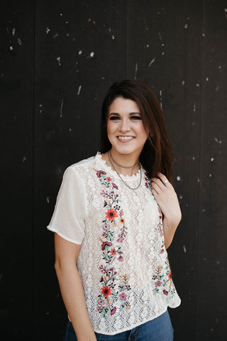 The Iris Floral Top