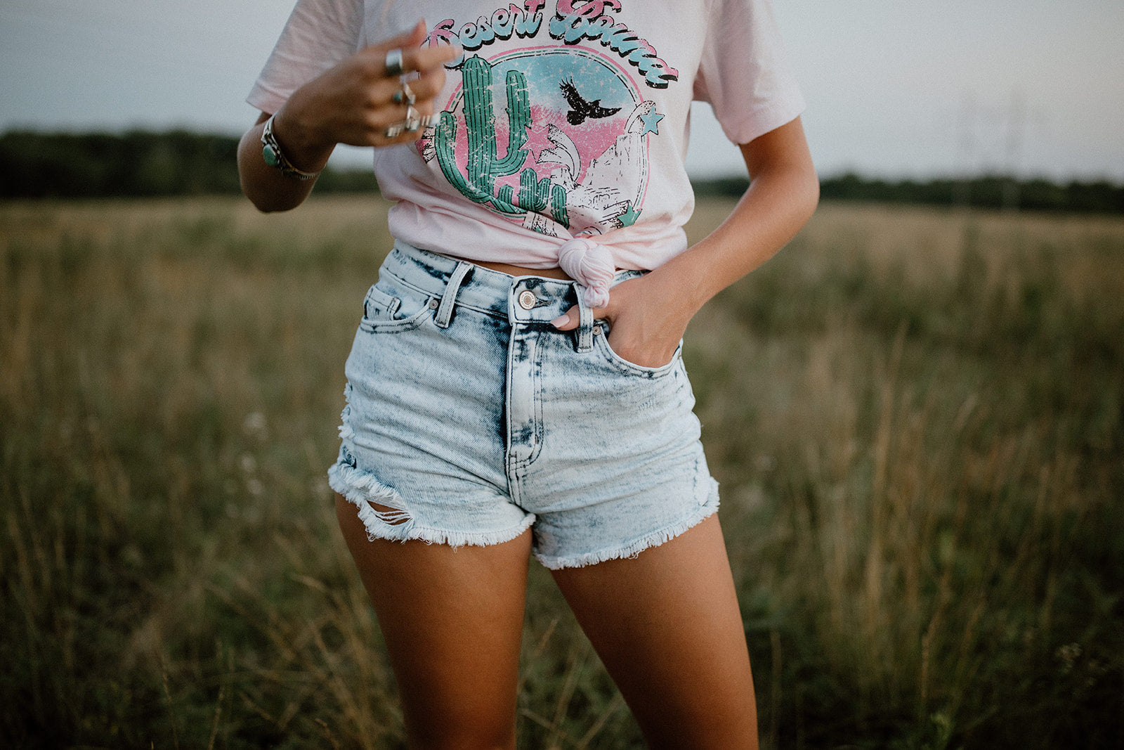 The Desert Bound Tee in Pink
