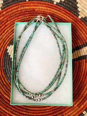 Turquoise and Navajo Pearl Necklace