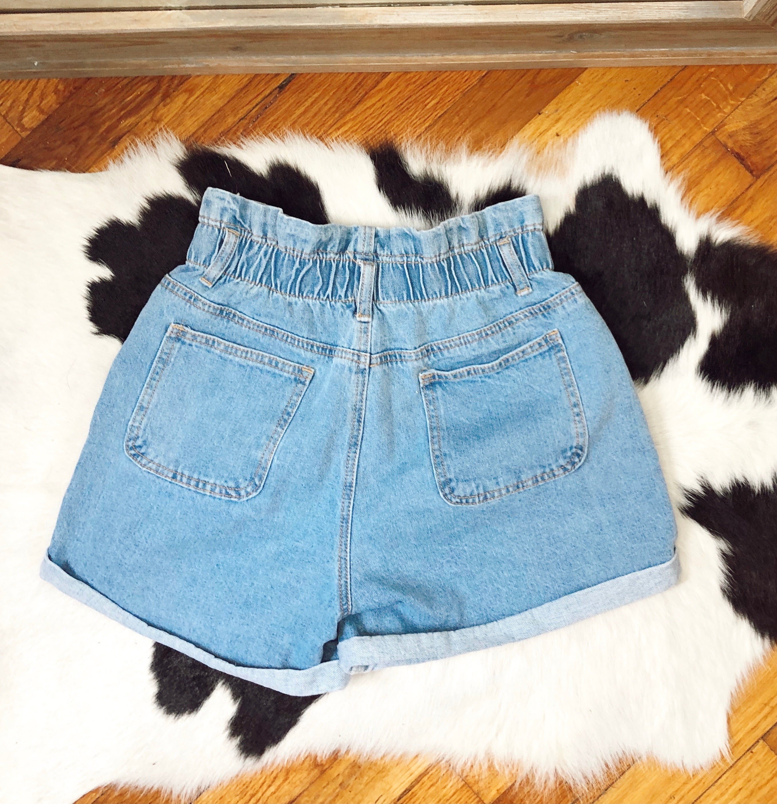 The Brookville Elastic Waist Denim Shorts