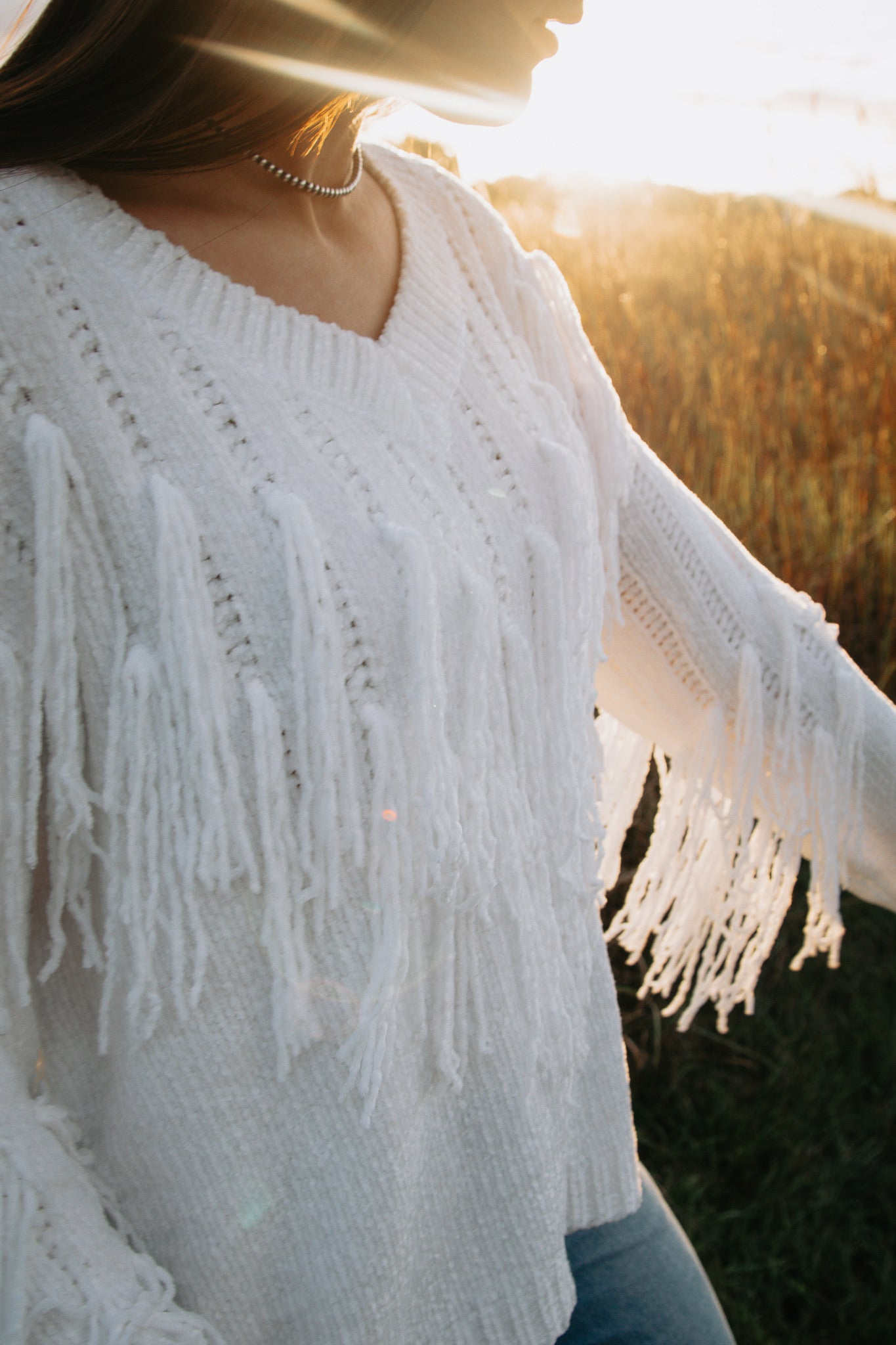 The Dolly Fringe Sweater