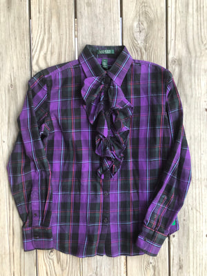 Ralph Lauren Ruffed Button Down - Small