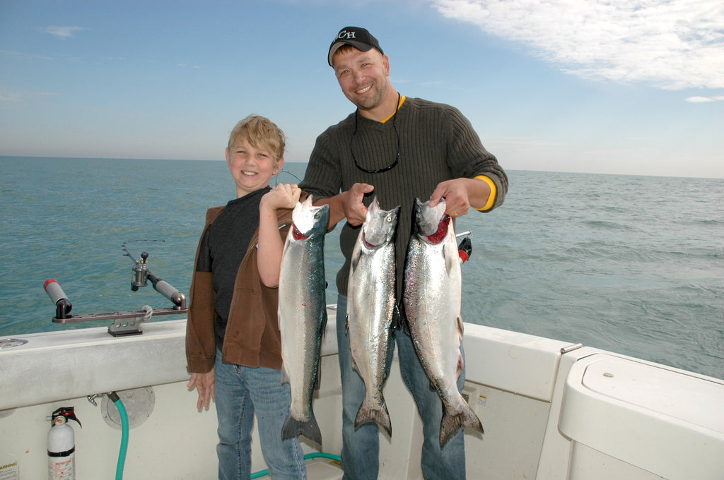 salmon chinook king fishing great lakes