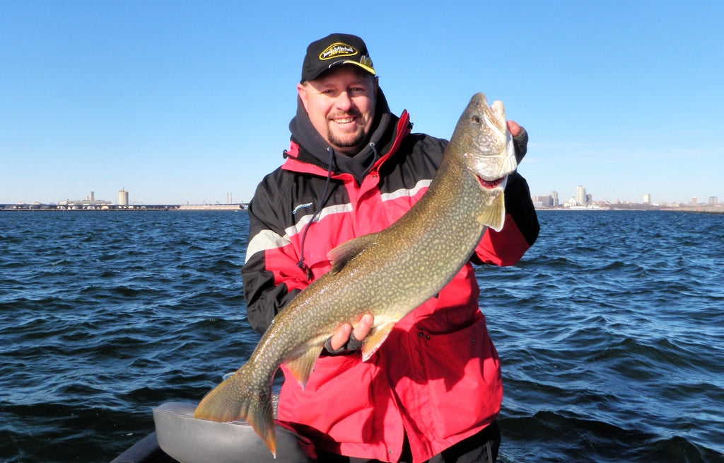 lake trout jigging great lakes yarmuth
