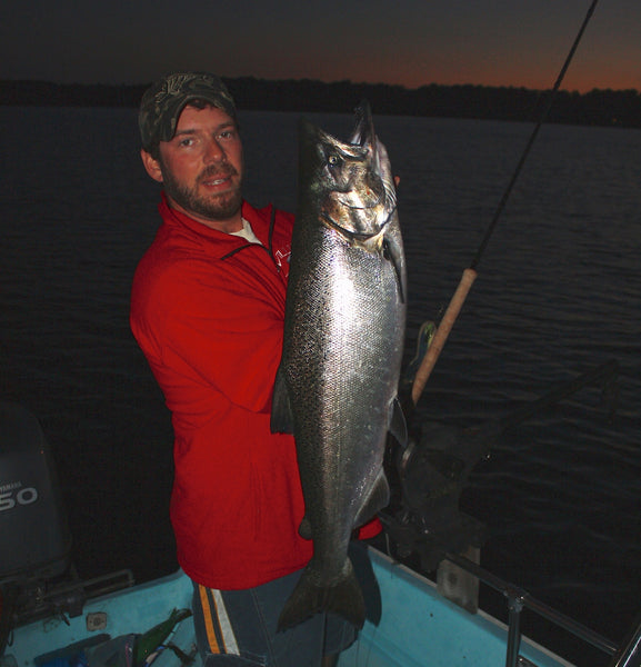 night fishing lake huron chinook kings salmon