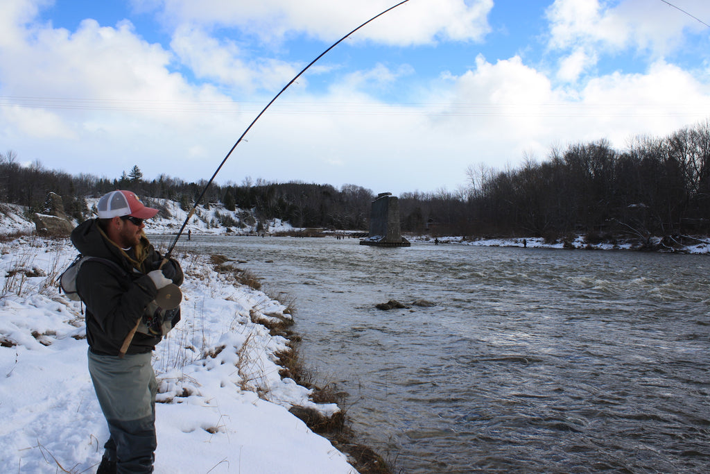 steelhead fishing great lakes ice water